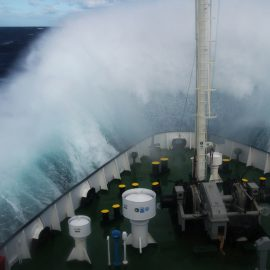 Ship in seaway